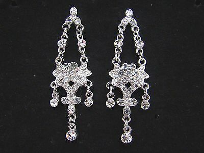 Vintage Bridal Chandelier Earrings with Clear Australia Crystal E2029