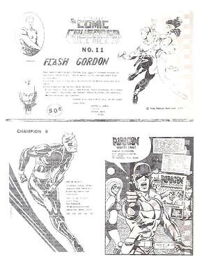 THE COMIC CRUSADER CHAMPION PARAGON vintage 2-sided 1970 flyer for fanzines
