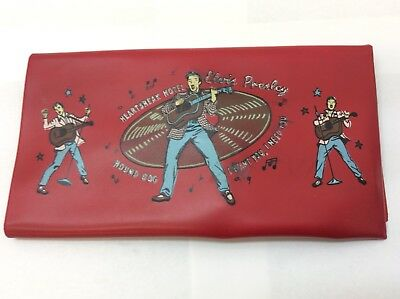 1956 Elvis Presley Wallet Heartbreak Hotel Hound Dog Red Vinyl