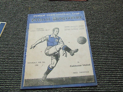 Ipswich Town V Colchester United 1937-8