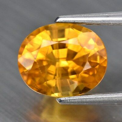 1.48ct 7x5.8mm Oval Natural Yellow Sapphire, Thailand