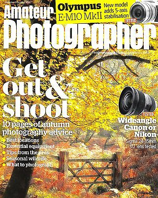 Amateur Photographer magazine with Olympus E-M10 MKII  tested  17th October 2015
