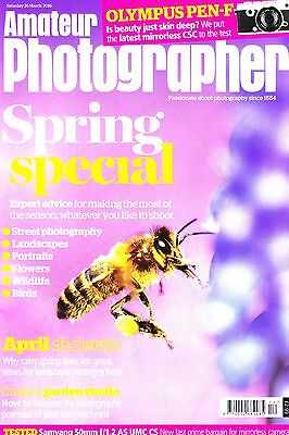 Amateur Photographer magazine with Olympus Pen-F camera tested   26th March 2016