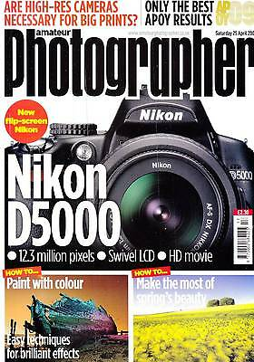 Amateur Photographer magazine with  SONY DSC-HX1 camera tested   25th April 2009