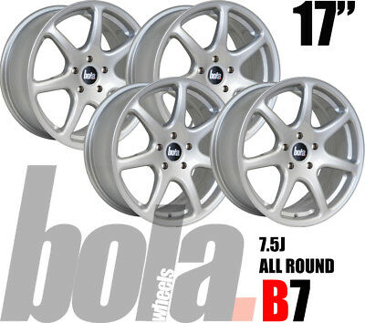 "17"" Bola B7 Silver 4 Stud 7.5J Set Of 4 New Alloy Wheels Fit Mg Zr 01-05"