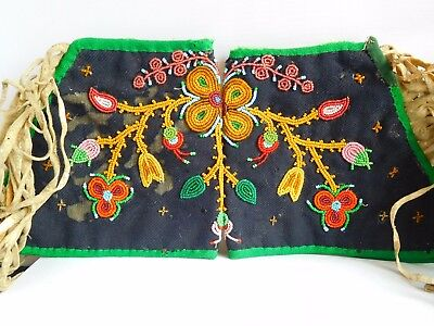 Good Quality Pair Of Late Victorian / Early Edwardian Ladies Beaded Dress Cuffs