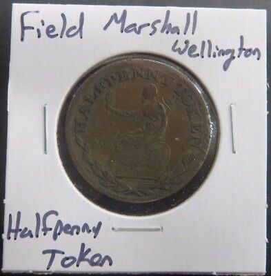 Field Marshall Wellington Half Penny Token Vintage #288
