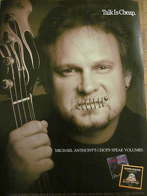 Michael Anthony, Van Halen, Dean Markley, Full Page Vintage Promotional Ad