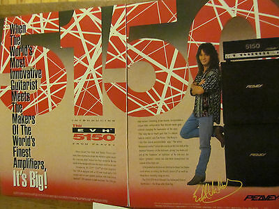 Eddie Van Halen, Peavey Guitars and Amps, Two Page Vintage Promotional Ad