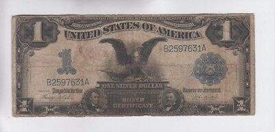 Silver Certificate $1 1899 Black Eagle one old note vg stains