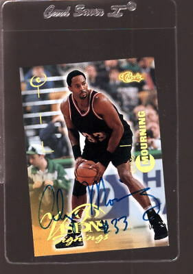 1996 Classic Vision Signings Alonzo Mourning Hof Autograph Nmmt *69370