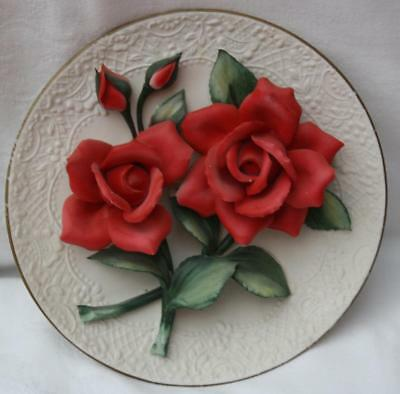 Franklin Mint The Legend Red Roses of Capodimonte Plate Limited Edition