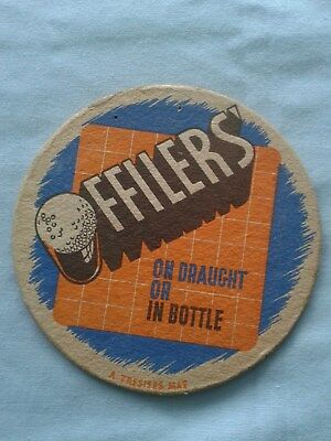 1950 OFFILERS BREWERY BEER MAT  BBCS No. 11