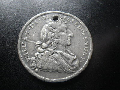 William III 1788 Medal.  Britons Never Will Be Slaves. Dia: 33mm. Pewter