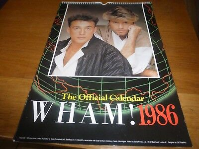 wham george michael large 1986 official fan club item danilo promotions