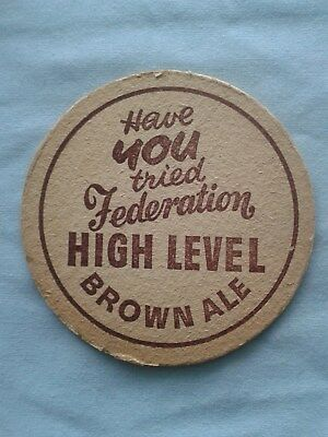 Federation – High Level Brown Ale – Beer Mat