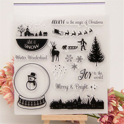 diy christmas winter transparent clear stamp for diy scrapbooking card making