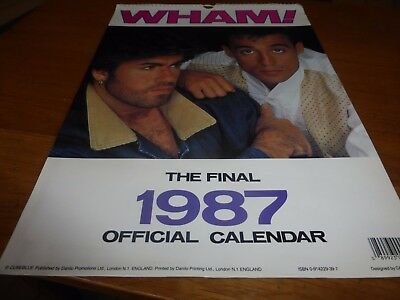 wham george michael large 1987 official fan club item danilo promotions