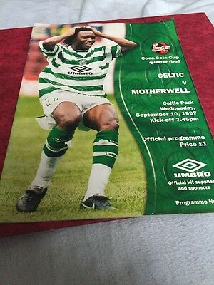 Celtic V Motherwell 10th September 1997 League Cup