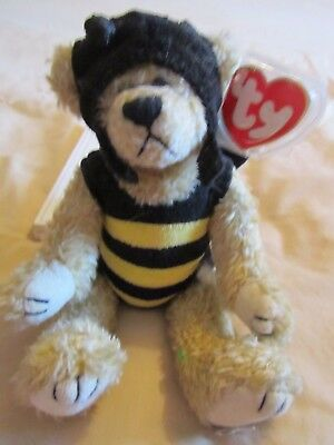 Cute Rare Ty Jointed Bumble Bee Bear.  Stocking  Christmas Gift *look*