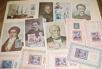 Argentina  16 Diff. Maxicards 1941-1950 Cachet Unaddressed