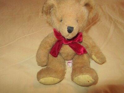 Cute Cuddly Russ Berrie Beanie Bear. Stocking. Christmas Gift *look*