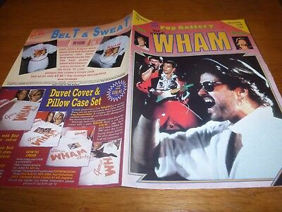 wham  USA tour photo poster mag george michael 1986 official UK fan club item