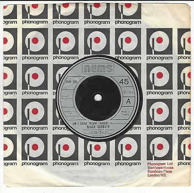 Black Sabbath Uk 7'' Am I Going Insane  In  Ex  Con