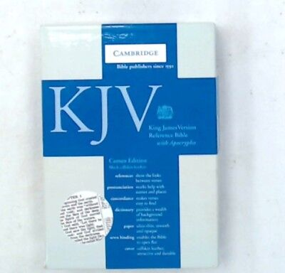 KJV CAMBRIDGE Bible Cameo Edition With Black Calfskin Leather Cover - C48