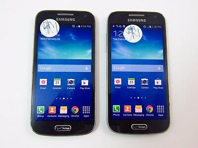 Lot of 2 Cracked Samsung Galaxy S4 Mini I435 Verizon Check ESN CR
