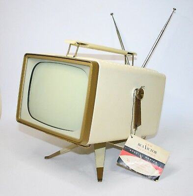 Very Rare 1956 Rca Victor 8-Pt-7031 With Base Vintage Television Fernsehen