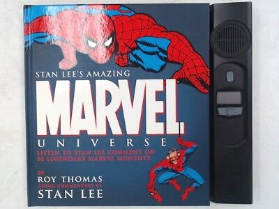 STAN LEE'S AMAZING MARVEL UNIVERSE Book With Audio Commentary By Stan Lee - A05
