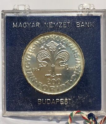 1978 Hungary Large Proof Silver 200 F First Forint Coin