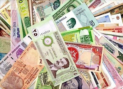 *****   Great  Unsorted Auction  Lot Of More Than 150  World Notes  !!!!  ****
