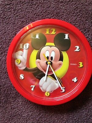 Mickey Mouse Clock Red