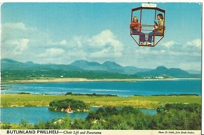 Butlins  Holiday Camp Pwllheli Chairlift & Panorama John Hinde Ltd 3P13 Pc