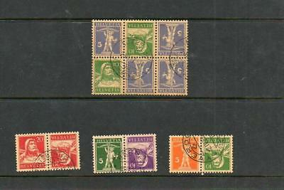 (A28) Switzerland Old Booklet Pane And Booklet Stamps Used See Scan