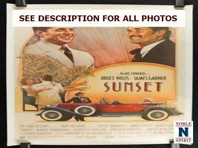 "NobleSpirit NO RESERVE Original 1988 Sunset 27x41"" Rolled Movie Poster"
