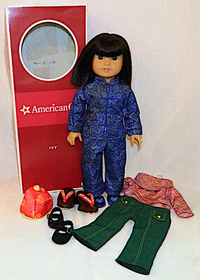 American Girl Doll IVY LING  Clothes, shoes box