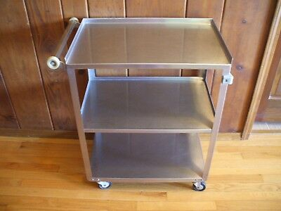 Lakeside Stainless Steel Vintage Food Service, Tea, Bar Cart