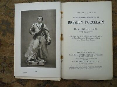 The King Collection Of Dresden Porcelain 1914 Catalouge Price One Guinea