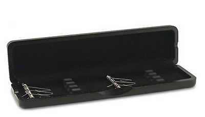 Wooden Oboe Reed Case 6 Reed Capacity - Black