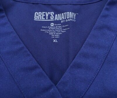 Woman's scrub top Greys Anatomy Brand Size Large