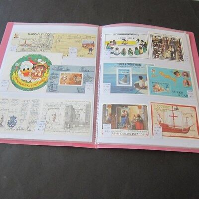 Turks & Caicos Is. 1974-98 M sheet collection MNH Cat.$271(Detail Pics on Des.)