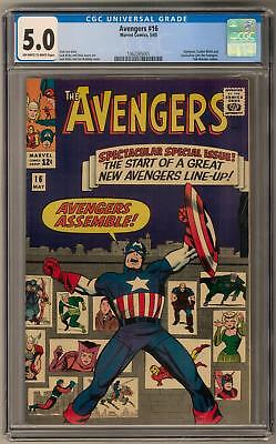 Avengers #16 CGC 5.0 (OW-W) Avengers Assemble Issue