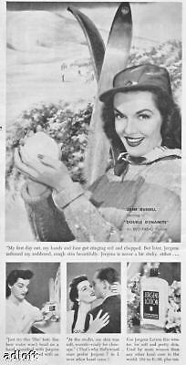 1952 Actress Jane Russell Jergens Lotion Print Ad