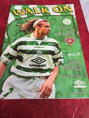 Celtic V Hearts 26th September 1998 Scottish Premier League