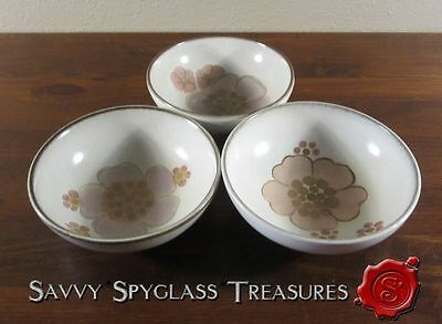 THREE Denby Gypsy Stoneware Fruit/Sauce Bowls