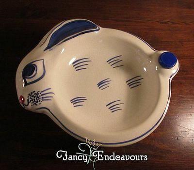 Waechstersbach Figural Rabbit Baby Food Warmer Child's Feeding Bowl