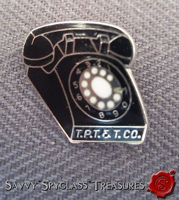 Advertising The Pacific Telephone & Telegraph Company Enamel Figural Rotary Pin